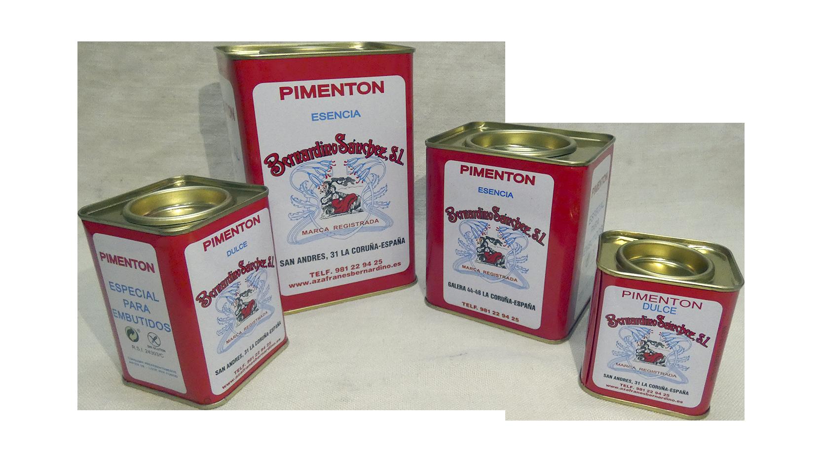 Formatos latas pimentón